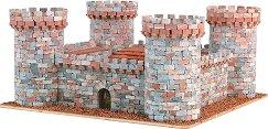 Средновековен замък - Сглобяем модел от истински тухлички -