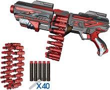 """Автомат - Комплект с патрондаш и 40 меки патрона от серията """"Red Guns"""" -"""