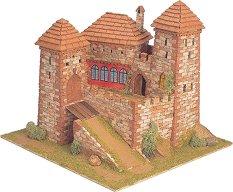 Средновековен замък - Burgen - Сглобяем модел от истински тухлички -