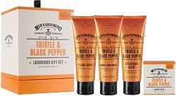 Scottish Fine Soaps Men's Grooming Thistle & Black Pepper Luxurious Gift Set - гел