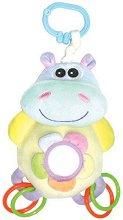 Хипопотамче - Бебешка играчка с вибрация за количка или легло -