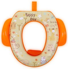 Детска седалка за тоалетна със закачалка - Happy Day -