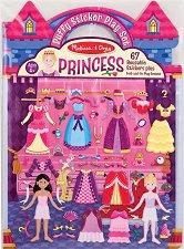 Принцеси - книжка със стикери за многократна употреба Princess - Puffy Sticker Play Set -