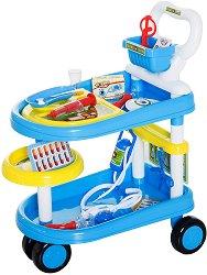 Детска лекарска количка - Комплект за игра с аксесоари -