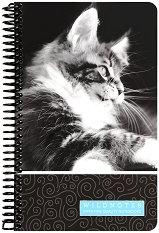 Ученическа тетрадка със спирала - Wild Notes : Размери 13 x 21 cm с широки редове - 100 листа -