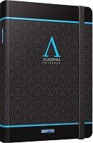 Тефтер с твърди корици - Academia - С размери 19 x 26 cm