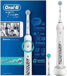 Oral-B Teen Electric Toothbrush - Електрическа четка за зъби за тинейджъри с 2 компактни глави -