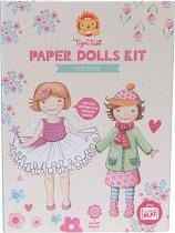 """Облечи хартиените кукли - Творчески комплект от серията """"Tiger Tribe"""" -"""
