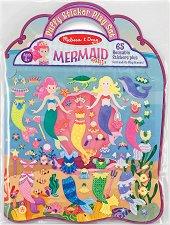 Русалки - книжка със стикери за многократна употреба Mermaid - Puffy Sticker Play Set -