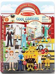 Професии - книжка със стикери за многократна употреба Cool Gareers - Puffy Sticker Activity Book -