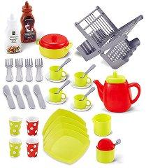 Детски кухненски съдове със сушилня - играчка