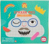 """Направи сам със стикери - Забавни лица - Творчески комплект от серията """"Tiger Tribe"""" -"""