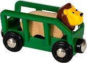 Вагон превозващ лъв - играчка