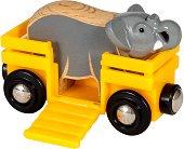 """Вагон превозващ слон - Играчки от серията """"Brio: Аксесоари"""" -"""