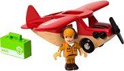 """Сафари самолет - Дървени играчки от серията """"Brio: Аксесоари"""" -"""