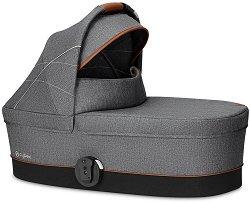"""Кош за новородено бебе - S 2019: Denim Manhattan Grey - Аксесоар за детска количка """"Balios S"""" -"""