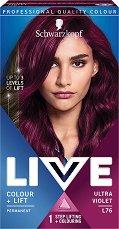 Schwarzkopf Live Colour + Lift Permanent - Трайна крем боя за коса с изсветляващ ефект -