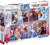 """Замръзналото кралство 2 - 4 пъзела от серията """"Замръзналото кралство"""" - пъзел"""