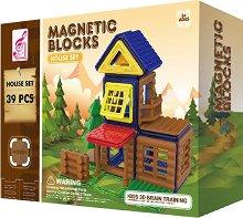 Къща - Магнитен конструктор - играчка