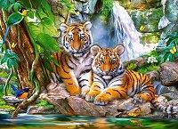 """Тигърският водопад - Пъзел от серията """"Castorland: Premium"""" -"""