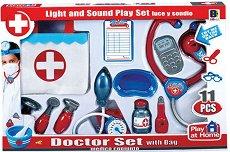 Детски лекарски инструменти - Комплект с чанта - играчка