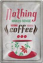 Метална табелка - Coffee