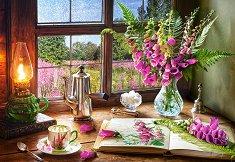 Натюрморт с цветя - пъзел