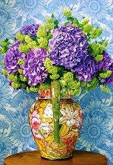 Хортензии във ваза - пъзел