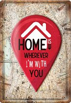 Метална табелка - Home
