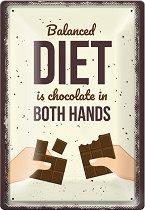 Метална табелка - Balanced Diet