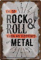 Метална табелка - So Rock & Roll - С размери 20 x 30 cm