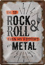 Метална табелка - So Rock & Roll