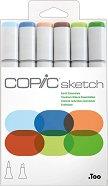 """Двувърхи маркери - Earth Essentials - Комплект от 6 цвята от серията """"Sketch"""""""