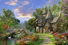 """Дом край езерото - От колекцията """"Author's"""" : Доминик Дейвисън (Dominic Davison) - пъзел"""