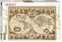 """Историческа карта на Света - От колекцията """"Art"""" - пъзел"""