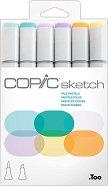 """Двувърхи маркери - Pale Pastels - Комплект от 6 цвята от серията """"Sketch"""""""