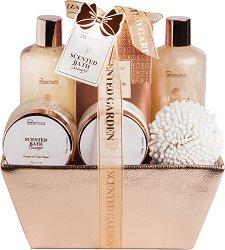 IDC Institute Scented Bath Bronze - Подаръчен комплект с козметика за баня с аромат на портокал и кедър -