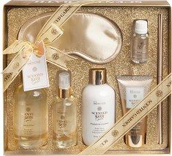 IDC Institute Scented Bath Gold - Подаръчен комплект с козметика за баня с аромат на мандарина и грейпфрут -