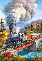 Влак с парен локомотив - Сонг Ким (Sung Kim) - пъзел