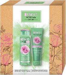 Nature of Agiva Acne Help Gift Set - Подаръчен комплект с козметика за лице - крем