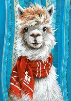 Лама с шал - пъзел