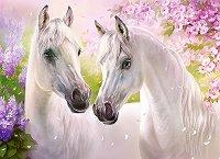 """Бели коне - Пъзел от серията """"Castorland: Premium"""" : Анна Лакисова (Anna Lakisova) - пъзел"""