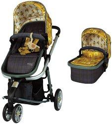 Бебешка количка 2 в 1 - Giggle 3 - С 3 колела -