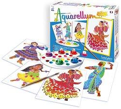 Оцветявай с акварелни бои - Танцьорки - Творчески комплект за рисуване -
