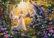 Дракон, принцеса и еднорог - пъзел