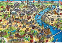 Карта на Лондон -