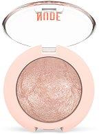 Golden Rose Nude Look Matte & Pearl Baked Eyeshadow - руж