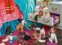 """Пакостливи кученца - Пъзел от серията """"Castorland: Premium"""" - пъзел"""