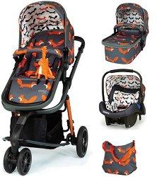 Бебешка количка 3 в 1 - Giggle 3 - С 3 колела -