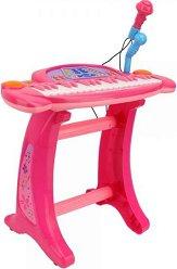 Йоника с микрофон - Детски музикален комплект със столче -